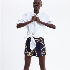 Zara knot print shorts